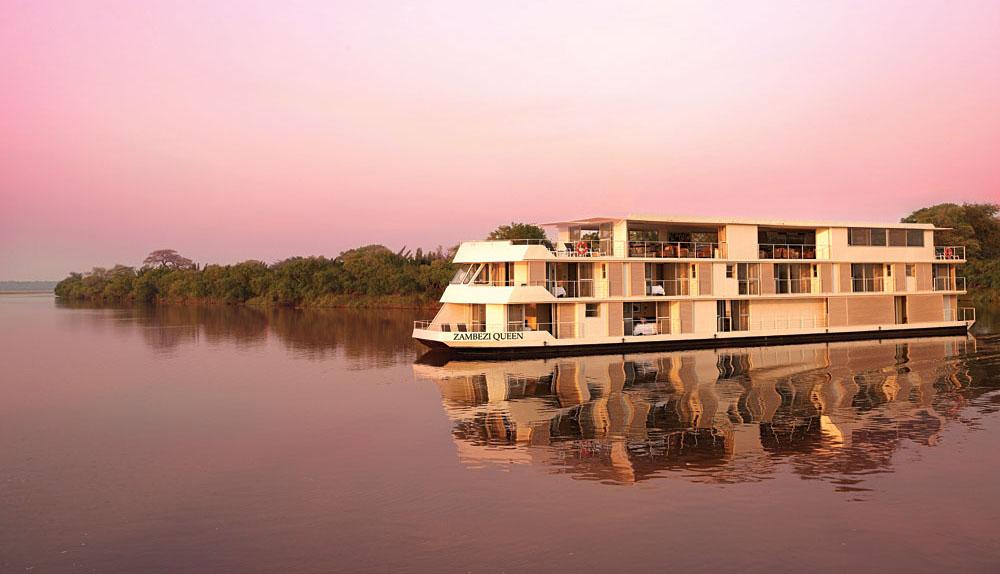 Zambezi Queen River Safari - Exterior Sunset, Botswana