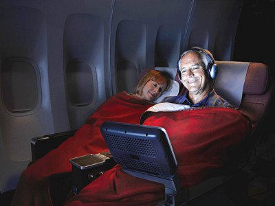 ANZ Premium Economy Couple Resting