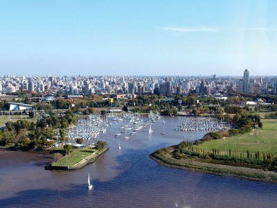 Aerial view of Buenos Aires, Argentina