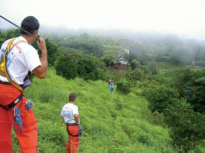 Enjoy a zip lining tour with friends