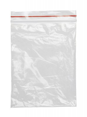 Clear Plastic Freezer Bag with Red Seal_221354932