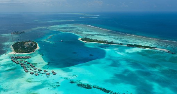 Aerial view of Conrad Maldives
