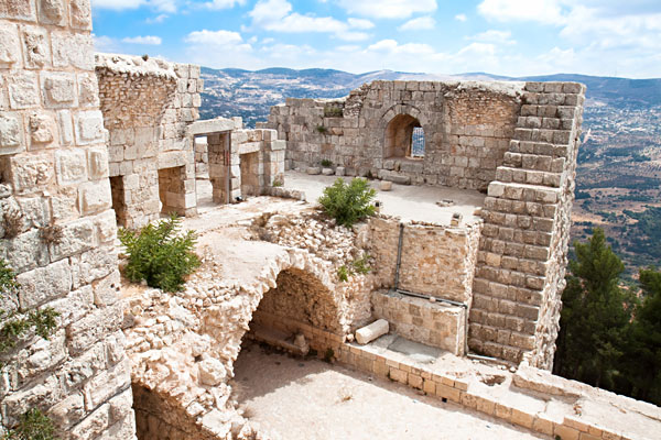 Inside Ajloun Fortress