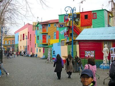 Colourfully vibrant buildings of La Boca