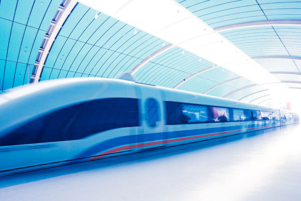 Maglev train, Shanghai, China