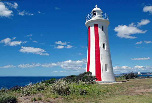 Mersey Bluff Lighthouse in Devonport, Tasmania, Australia