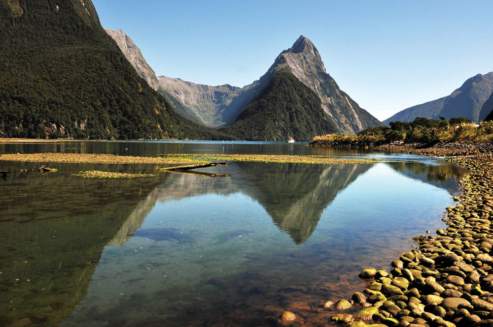 MItre Peak in Fiordland National Park, New Zealand