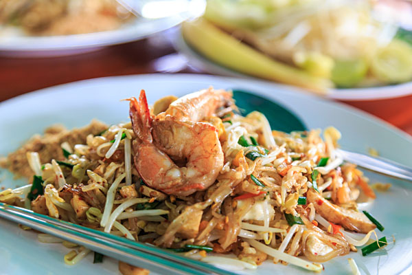 Pad Thai with shrimp, Thailand