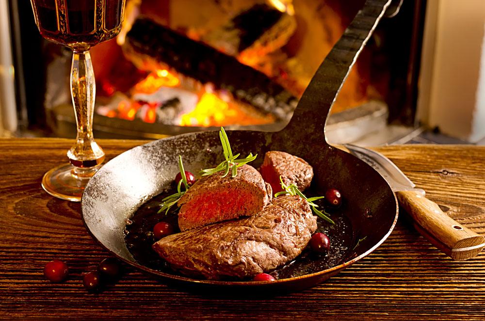 Pan fry Argentinean steaks