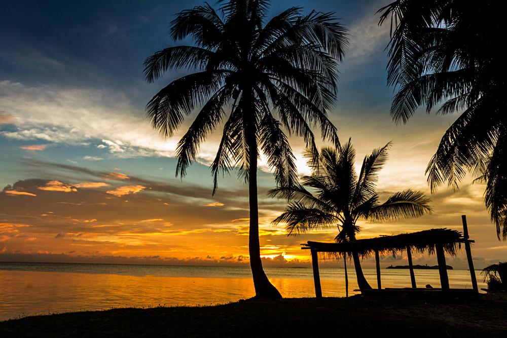 Rarotongo sunset, Cook Islands