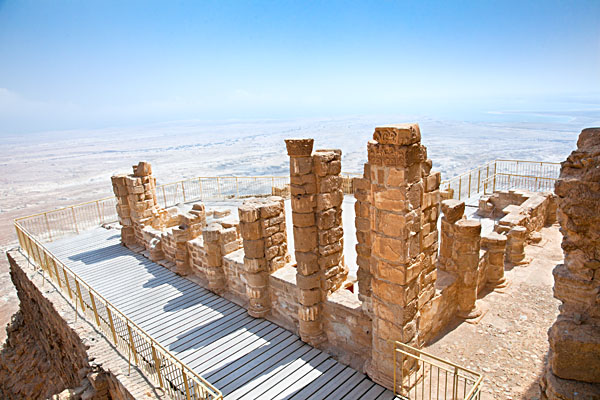 Ruins of Ancient Fortress in Masada