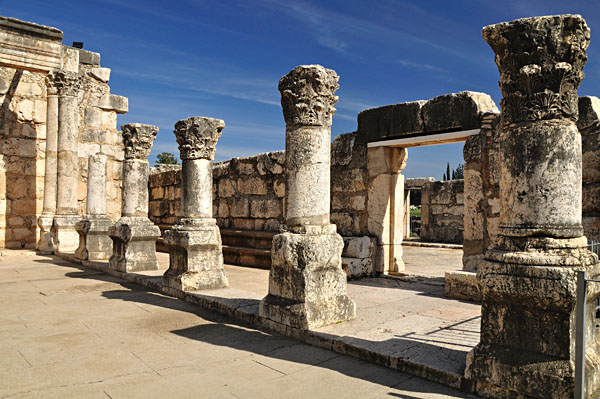 Capernaum's Ruins of the Ancient Synagogue
