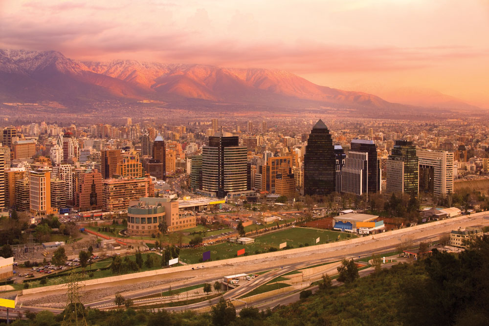 Santiago sunset, Chile