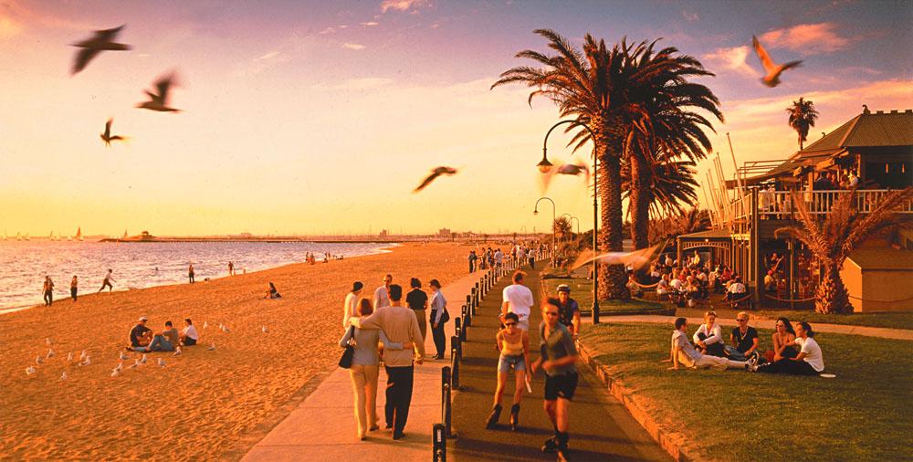 St Kilda Beach, Melbourne, Victoria, Australia