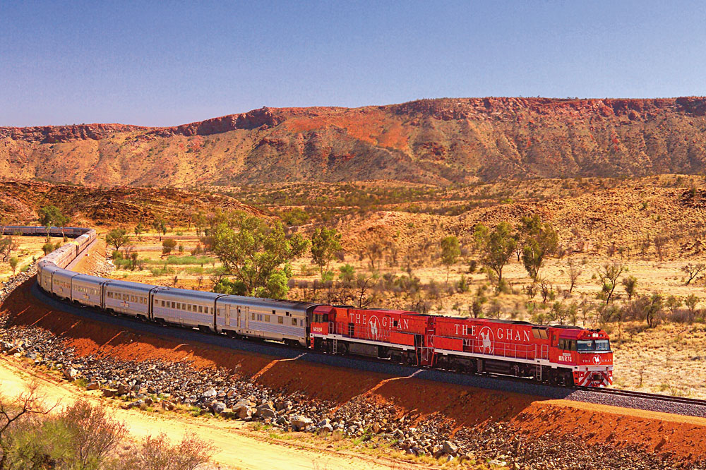 Ghan train in Australia