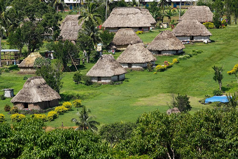 Traditional houses of Navala village, Viti Levu island, Fiji