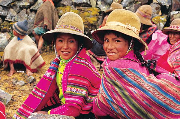 Two Peruvian girls