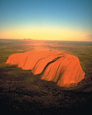 Ayers Rock Aerial, Uluru, Australia