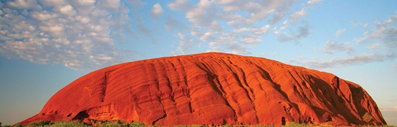 Ayers Rock and Clouds, Uluru, Australia
