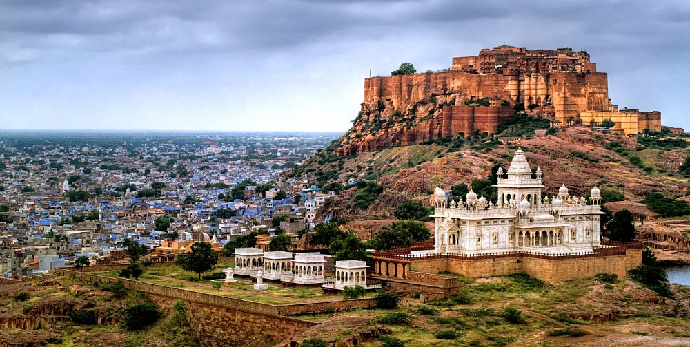 Blue City of Jodhpur with Mehrangharh Fort, India