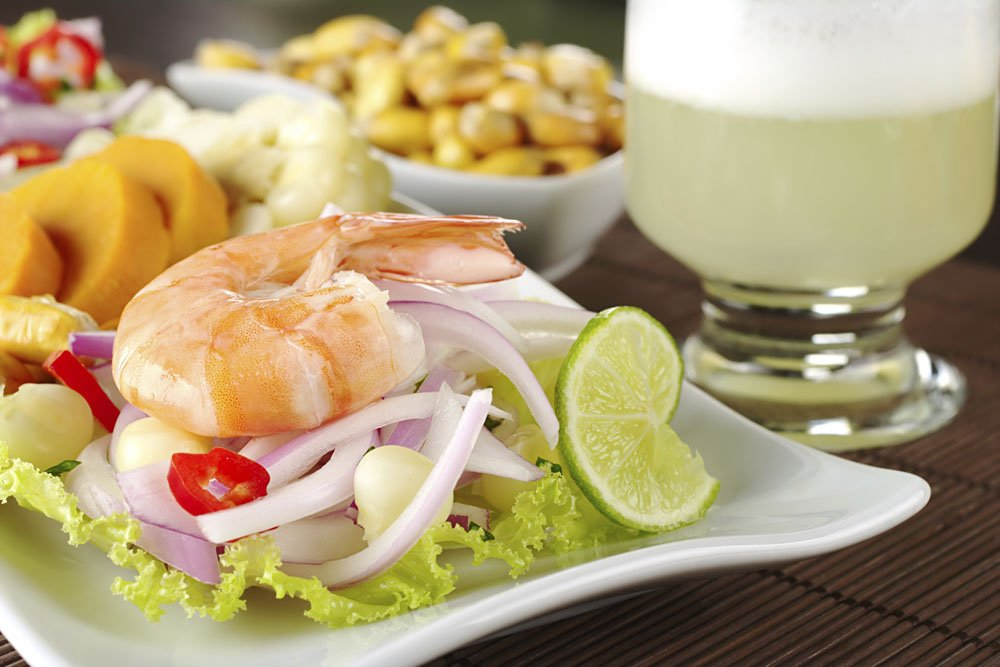 Peruvian Ceviche with King Prawn, Peru