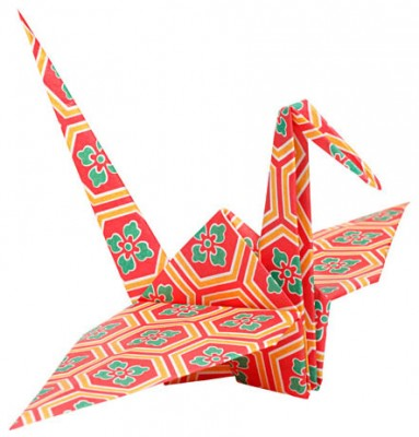 Colourful Traditional Japanese Origami Bird