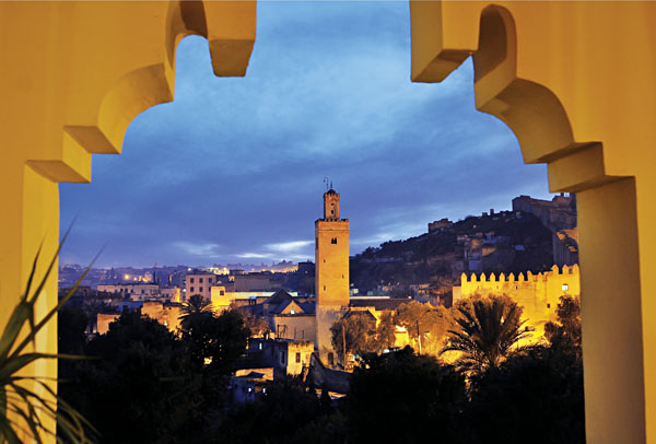Fez at Night, Morocco