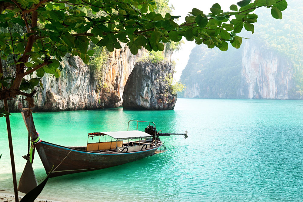 Longtail boat in Phang Nga province, Thailand