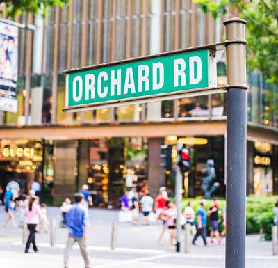 Orchard Road Street Sign, Singapore