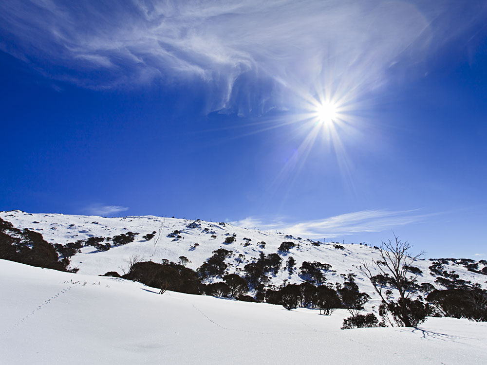 Perisher Valley in Snowy Mountains, Australia