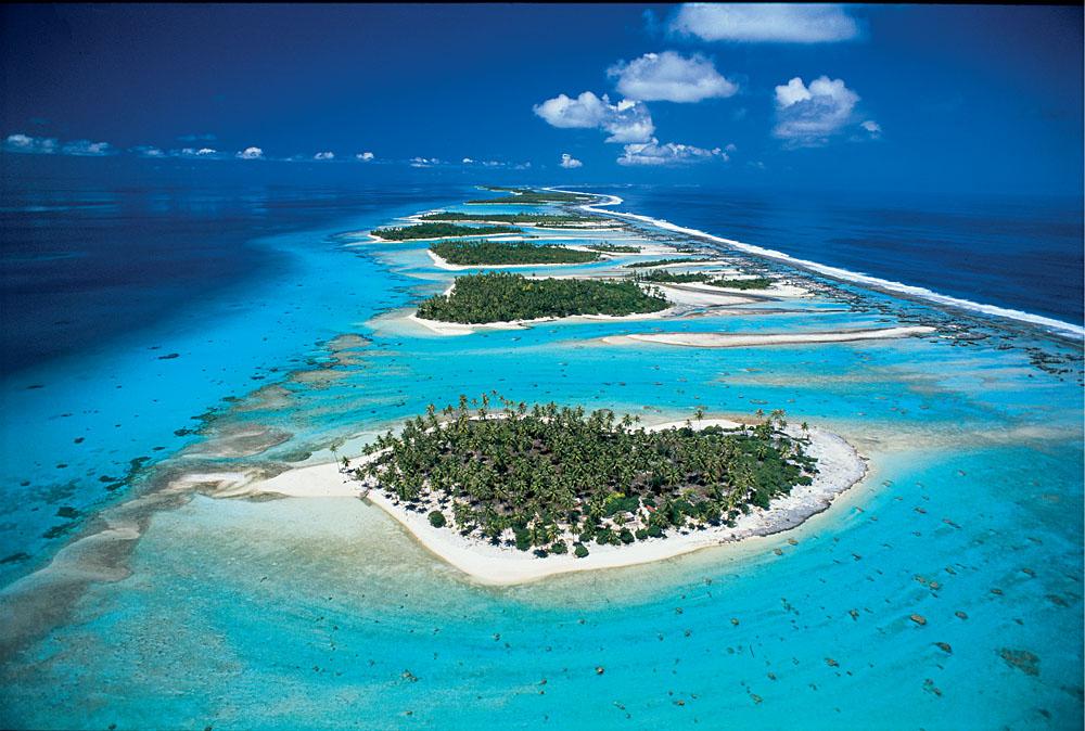 Rangiroa Aerial View, Tahiti