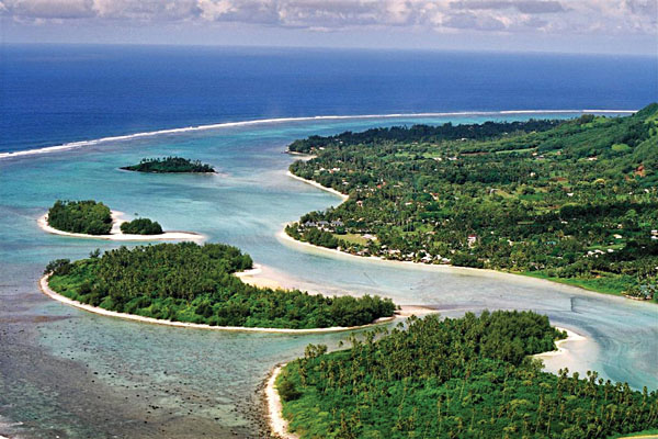 Rarotonga Reef Aerial View, Cook Islands