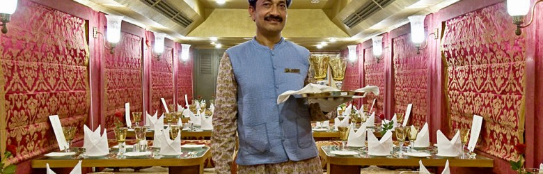Royal Rajasthan on Wheels - Server in Swarn Mahal Restro Lounge, India