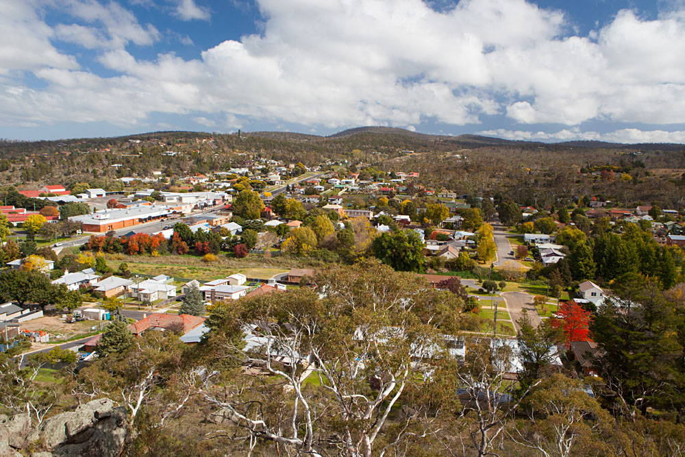 View Over Cooma from Nanny Goat Hill Lookout, Snowy Mountains, New South Wales, Australia