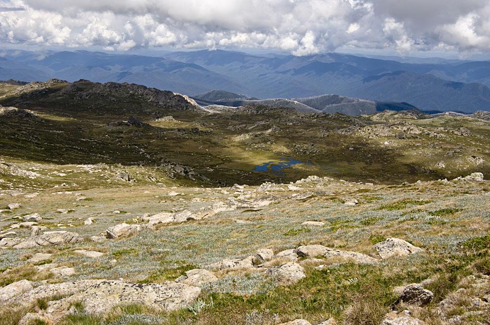 View from the Top of Mount Kosciuszko. Australia