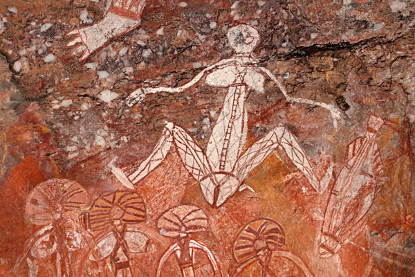 Aboriginal Rock Art at Nourlangie, Kakadu National Park, Northern Territory, Australia