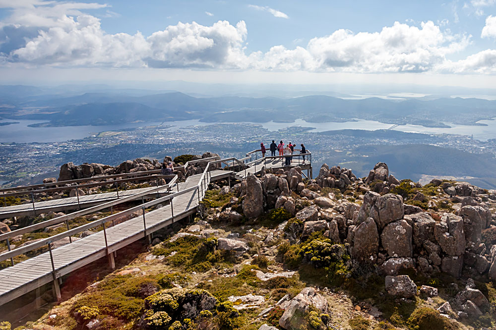 Lookout Point at Mount Wellington Near Hobart, Tasmania, Australia