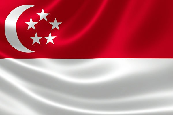 Singapore Flag 3D with Silk Material