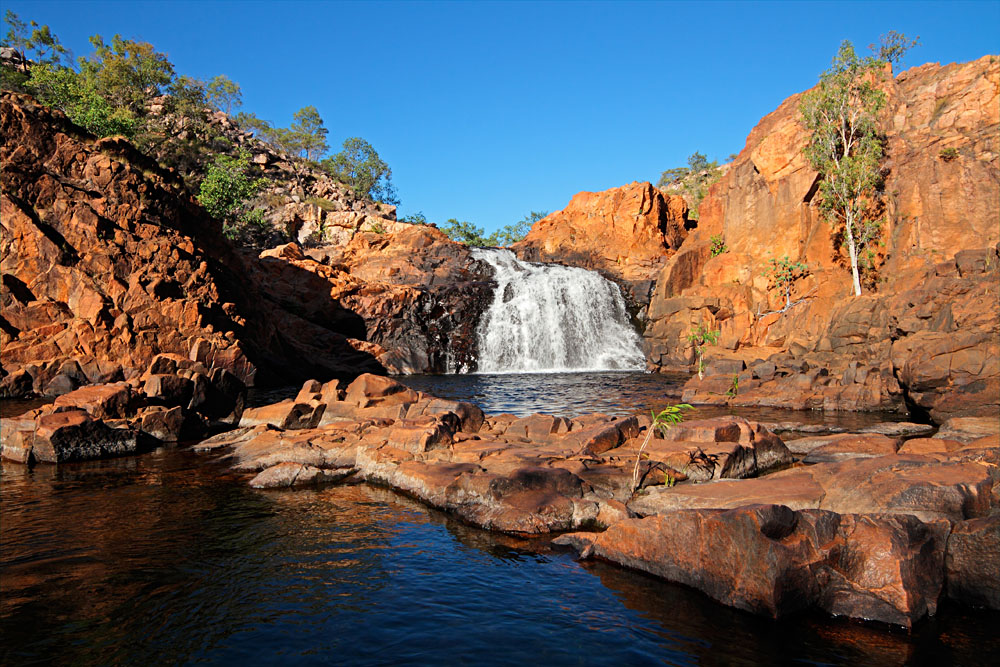 Small Waterfall and Pool, Kakadu National Park, Northern Territory, Australia