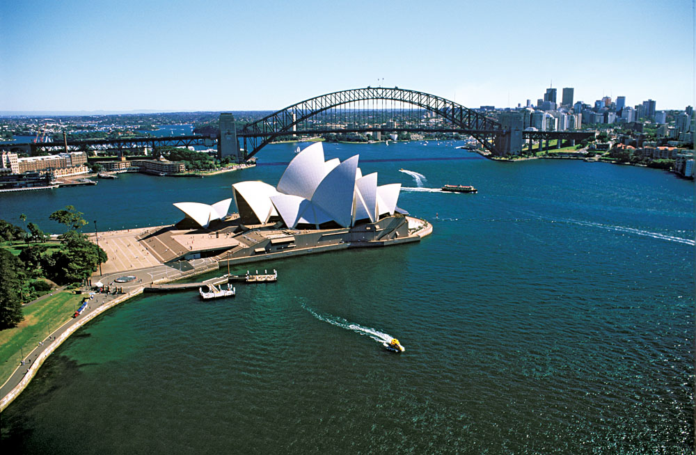 Sydney Opera House and Bridge, Sydney, Australia