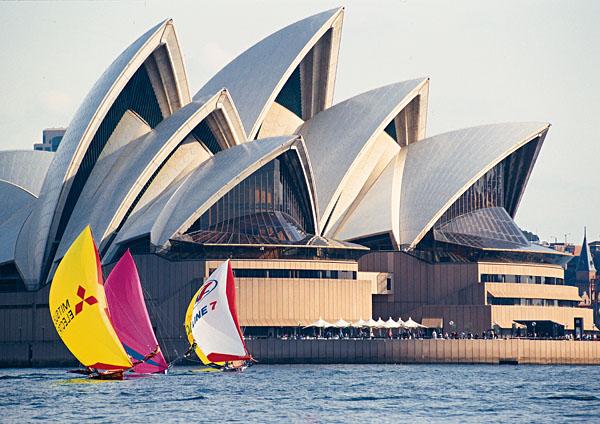 Sydney Opera House and Sailboats, Sydney, Australia