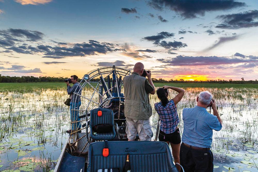 Air-Boat Safari in Bamarru Plains, Northern Territory, Australia