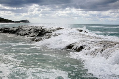 Champagne Pools at 75 Mile Beach, Fraser Island, Queensland, Australia
