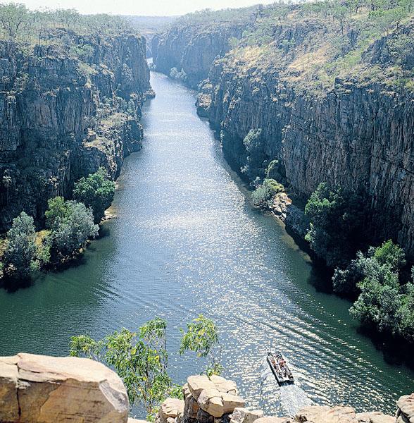 Cruising on Katherine Gorge, Northern Territory, Australia