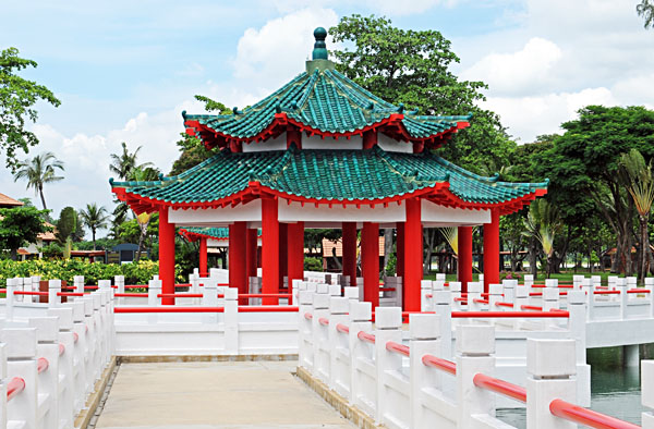 Da Bogong Temple on Kusu island, Singapore