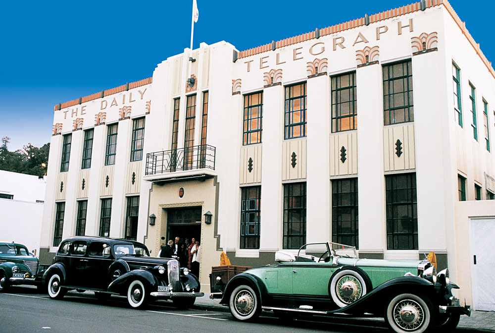 Daily Telegraph Building in the Art Deco Quarter, Napier, North Island, New Zealand