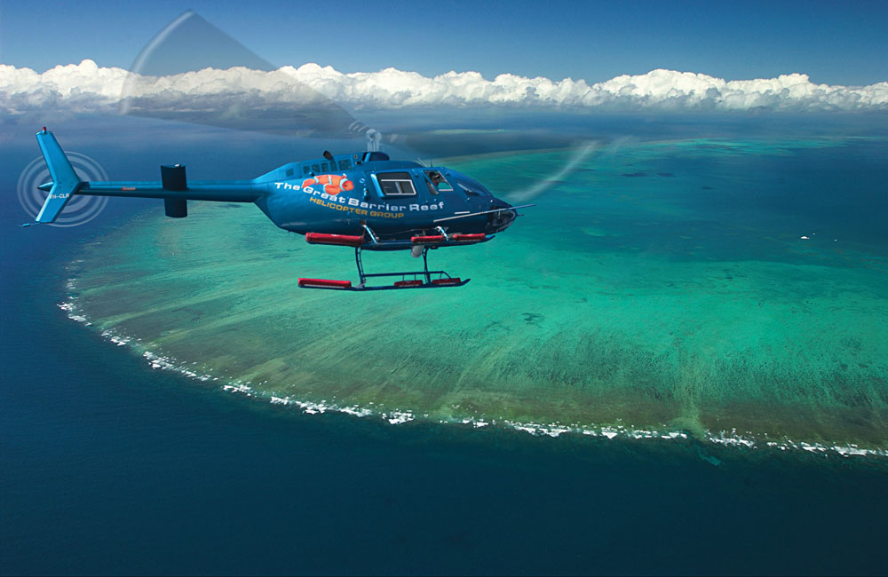 Enjoy a Helicopter Ride Over the Great Barrier Reef, Queensland, Australia