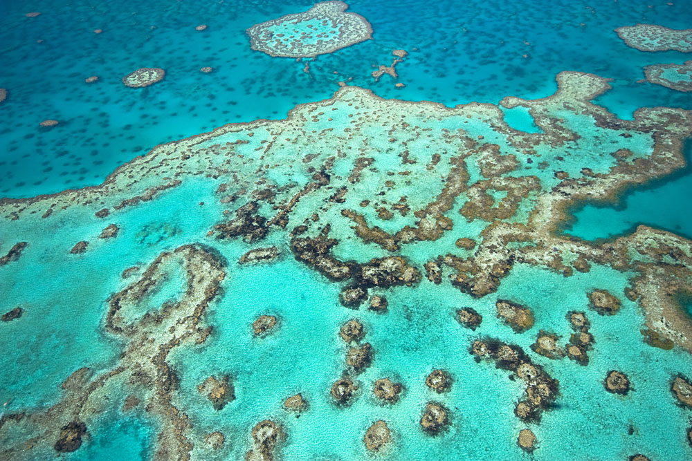 Great Barrier Reef From the Sky, Queensland, Australia
