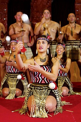 Group of Poi Dancers, Rotorua, New Zealand