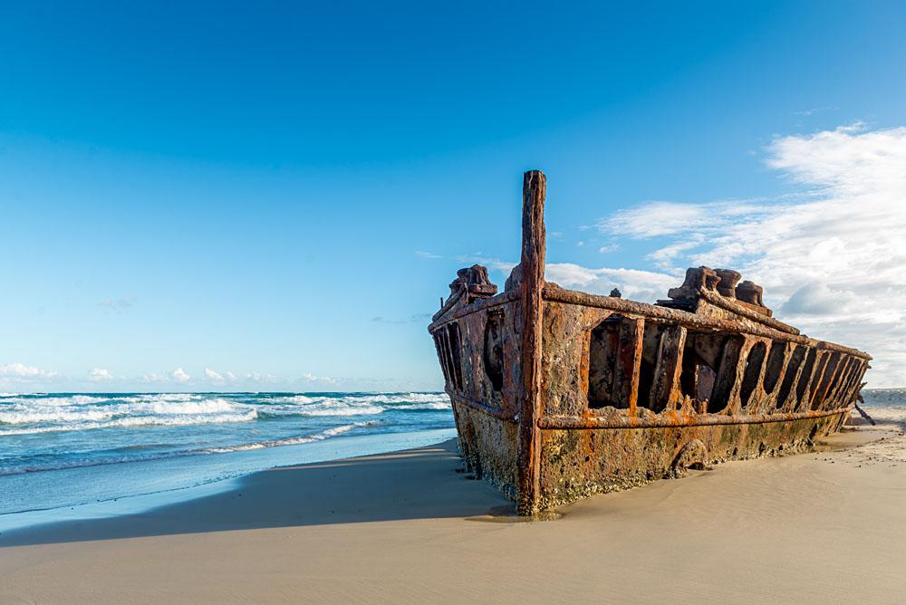 Historic SS Maheno Wreck, Fraser Island, Queensland, Australia